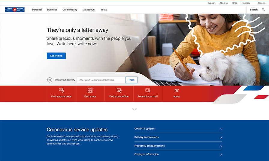 canadapost home
