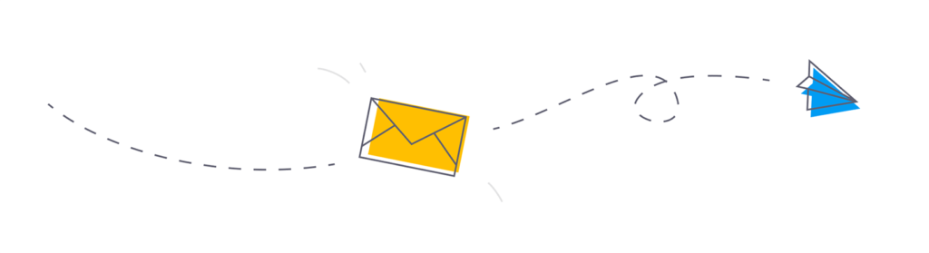 email marketing illustration by quiet and loud design
