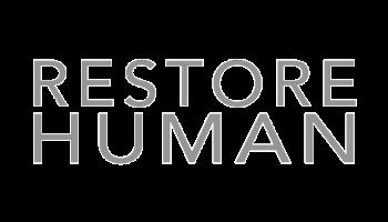 restore human greyscale logo