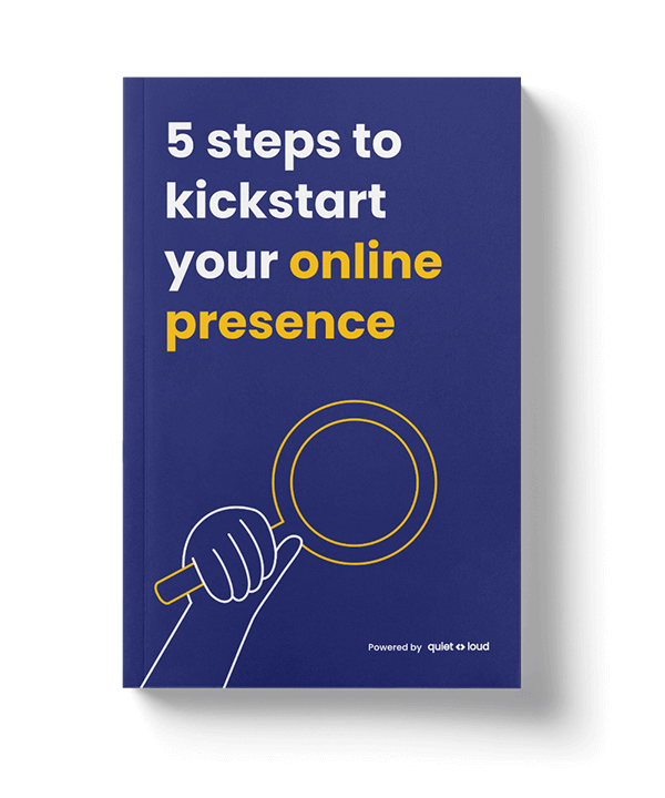5 steps to kickstart your online presence cover design flat