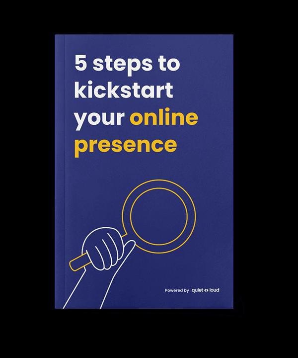 5 steps to kickstart your online presence cover design flat